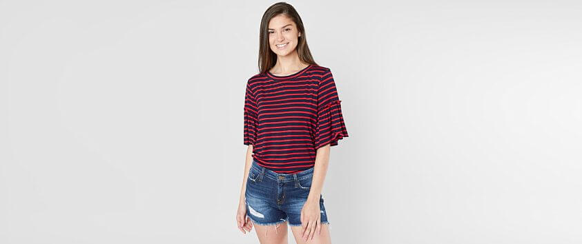 Gimmicks Striped T-Shirt front view