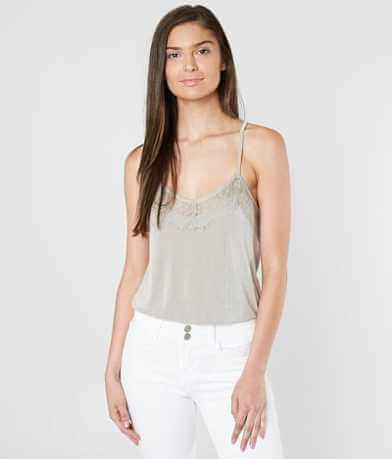 grehy Eyelash Lace Tank Top