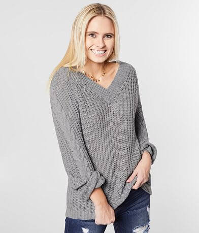 Daytrip Chunky Knit V-Neck Pullover Sweater