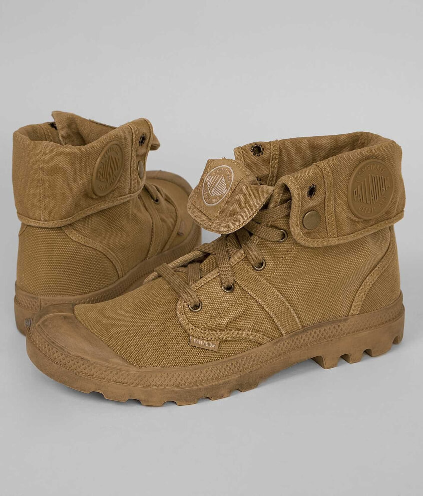 Palladium Pallabrouse Baggy Boot  Mens Shoes in Woodlin Honey Mustard  Buckle
