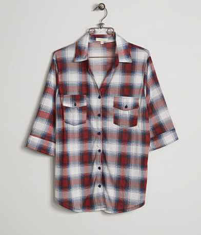 paper + tee Plaid Shirt - Plus Size Only