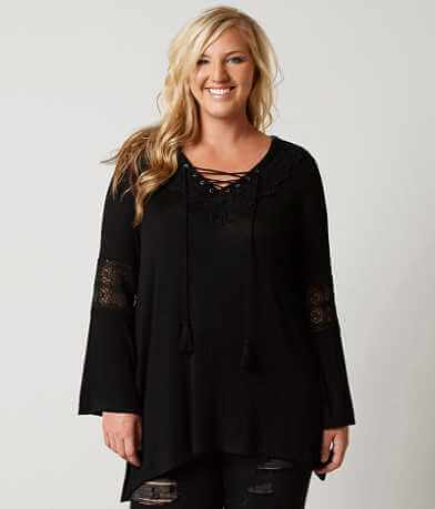 paper + tee V-Neck Top - Plus Size Only