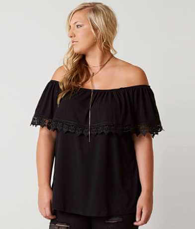 paper + tee Slub Fabric Top - Plus Size Only