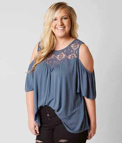 paper + tee Cold Shoulder Top - Plus Size Only