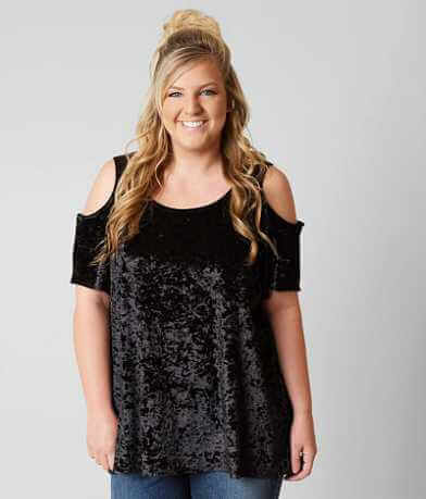 paper + tee Velvet Top - Plus Size Only