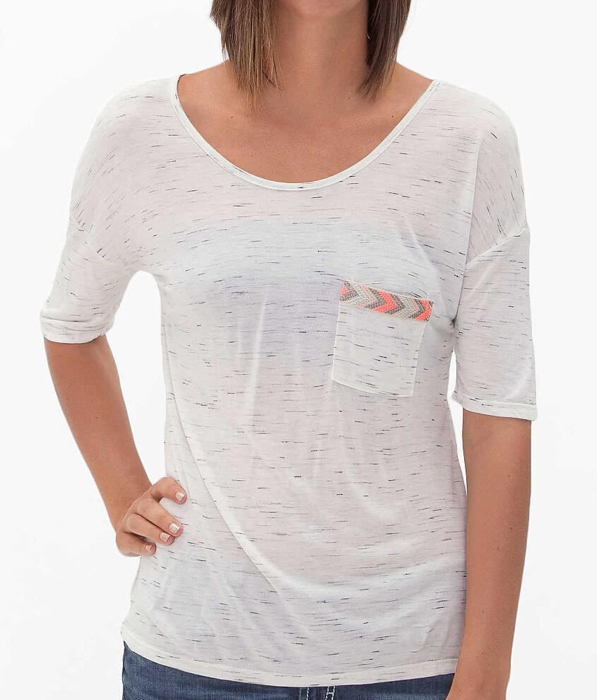 Papermoon Scoop Neck T-Shirt front view