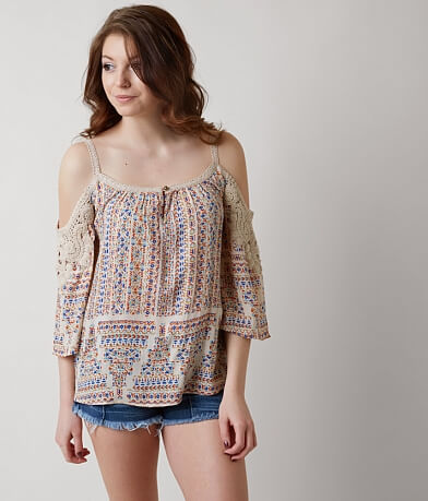 Patrons of Peace Cold Shoulder Top