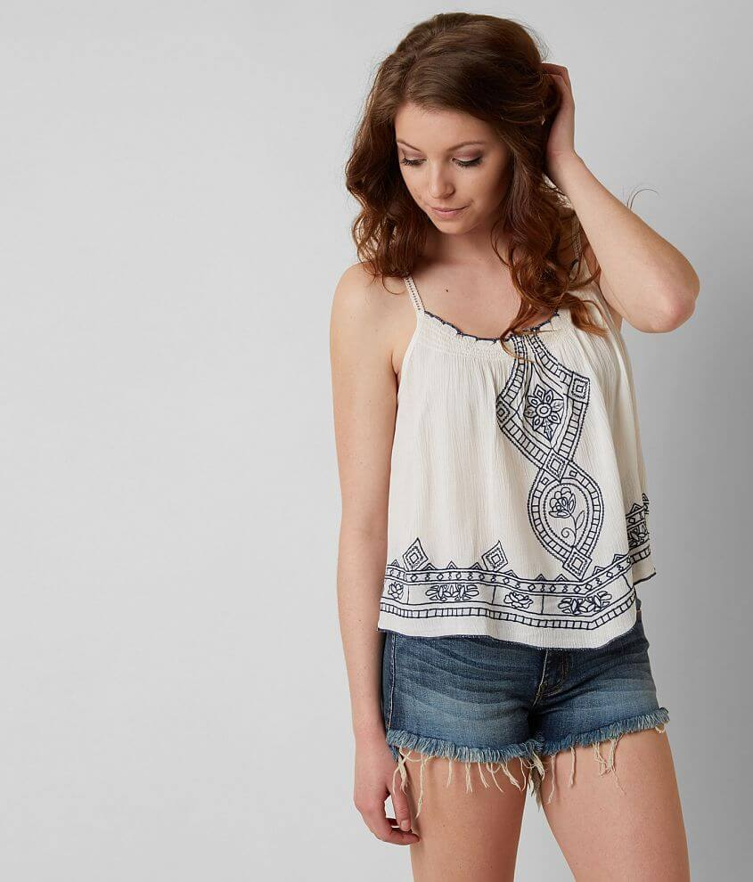 Patrons of Peace Embroidered Tank Top front view