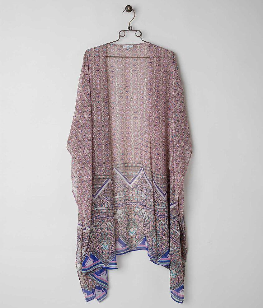 Patrons of Peace Printed Cardigan front view