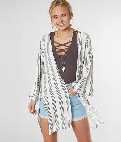 Daytrip Vertical Striped Kimono