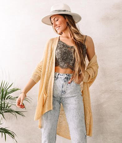 Willow & Root Open Weave Cardigan Sweater