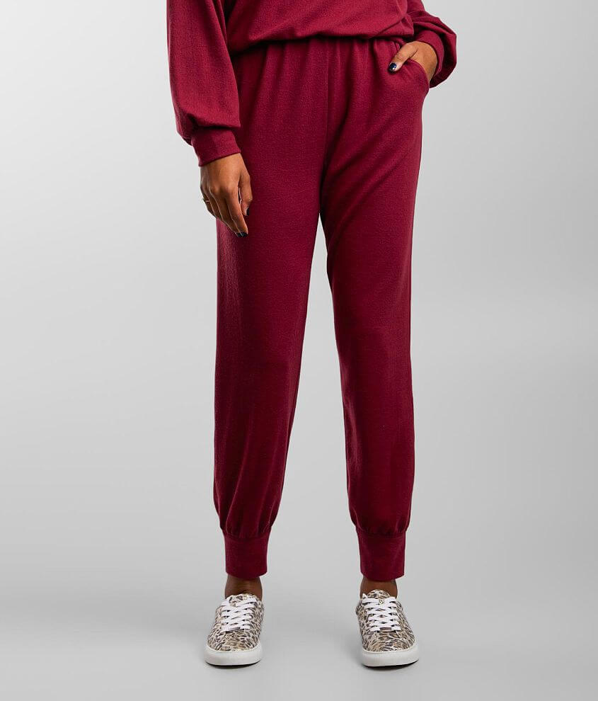 BKE Brushed Knit High Rise Jogger front view