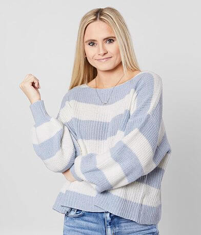 Fantastic Fawn Striped Pullover Sweater