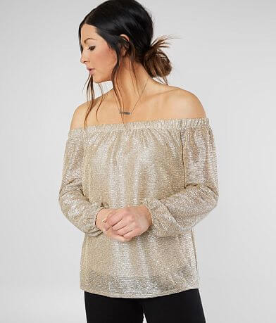 Daytrip Sheer Metallic Top