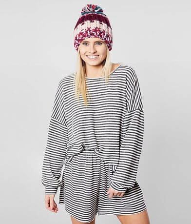 BKE Striped Hacci Lounge Top