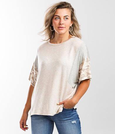 BKE Mixed Print T-Shirt