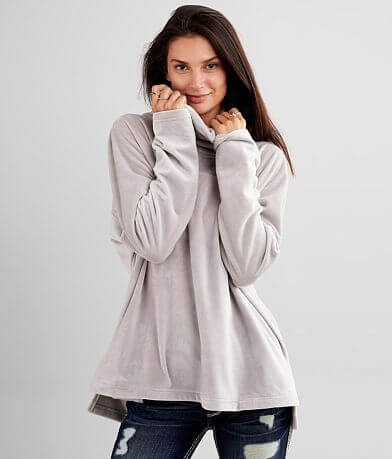 BKE Brushed Fleece Cowl Neck Pullover