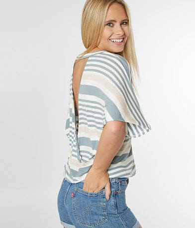 Daytrip Striped Dolman Top
