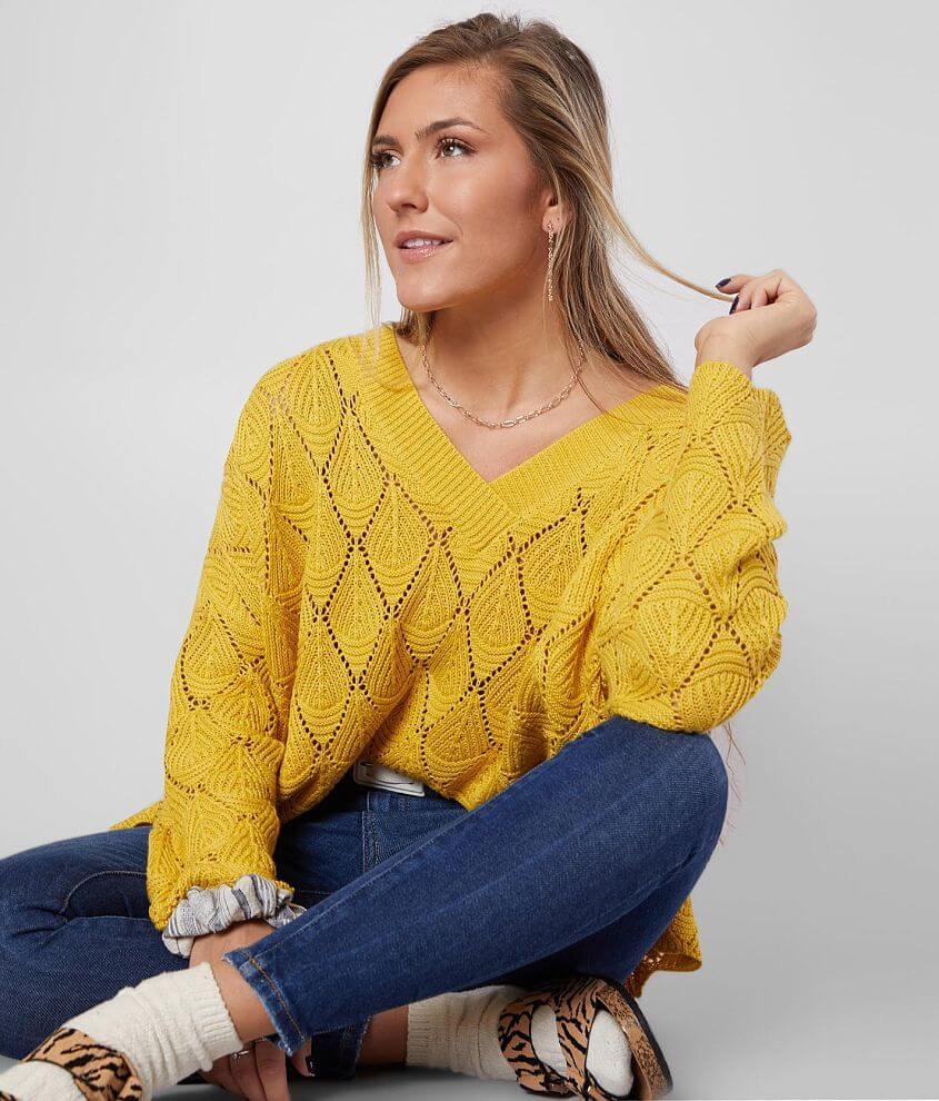 Daytrip Pointelle Knit Sweater front view