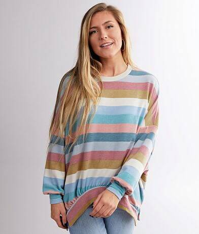 BKE Striped Knit Pullover
