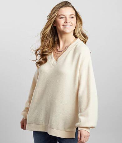 BKE Oversized High Low Hem Pullover
