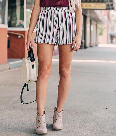 Willow & Root Striped Chiffon Short