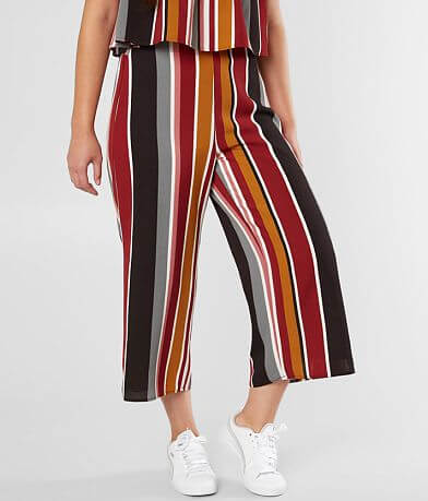 Daytrip Striped Gauze Cropped Gaucho Pant