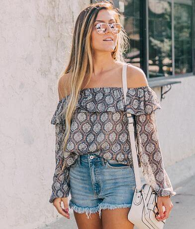 willow & root Cold Shoulder Top
