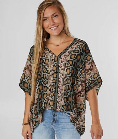 Daytrip Chiffon Animal Print Top