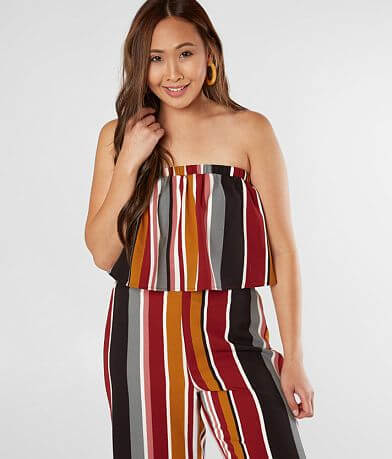 Daytrip Striped Gauze Cropped Tube Top