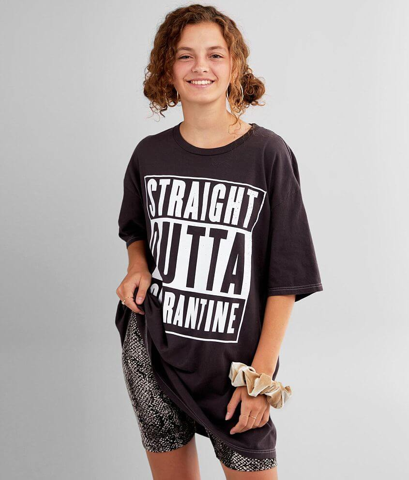 Straight Outta Quarantine T-Shirt - One Size front view