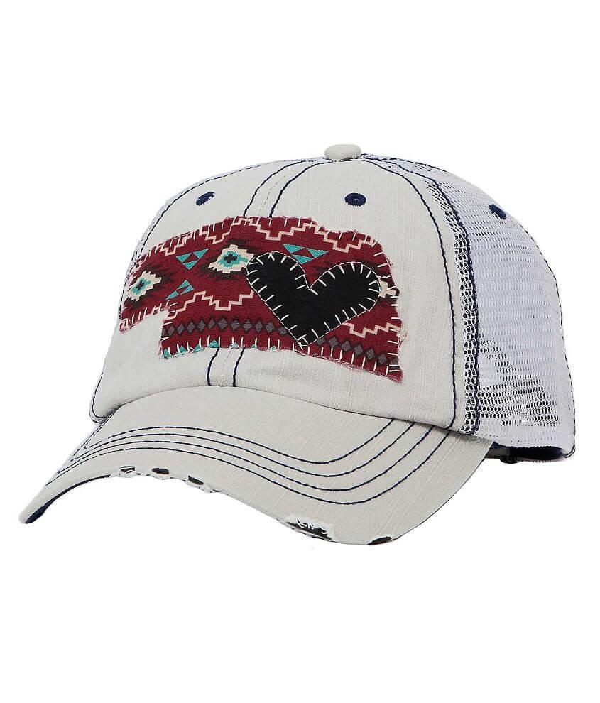 Pixi Chix Nebraska Trucker Hat front view