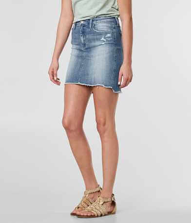 Bridge by Gly Frayed Stretch Denim Mini Skirt