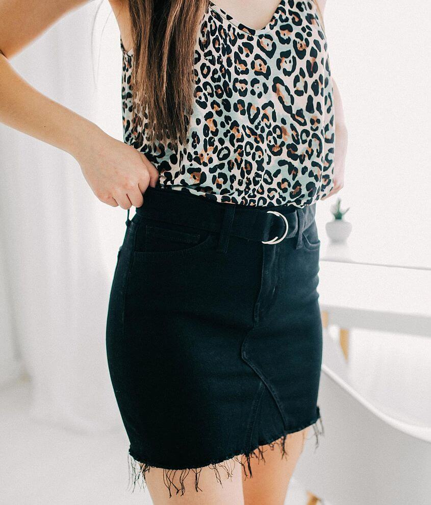 Bridge by GLY Belted Denim Skirt front view