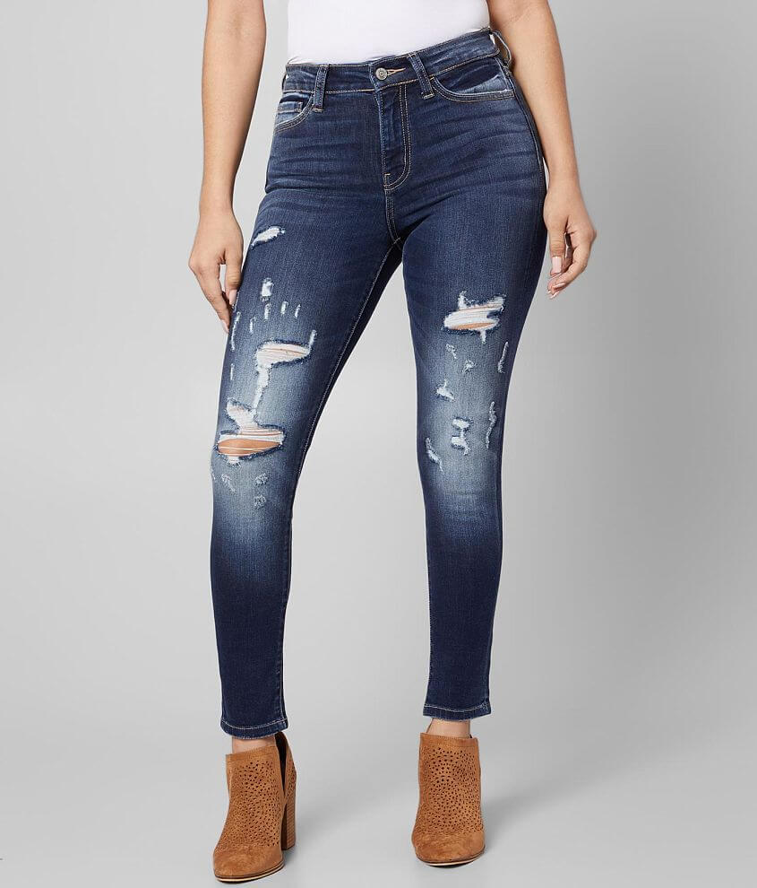 Bridge by GLY Curvy High Rise Ankle Skinny Jean front view