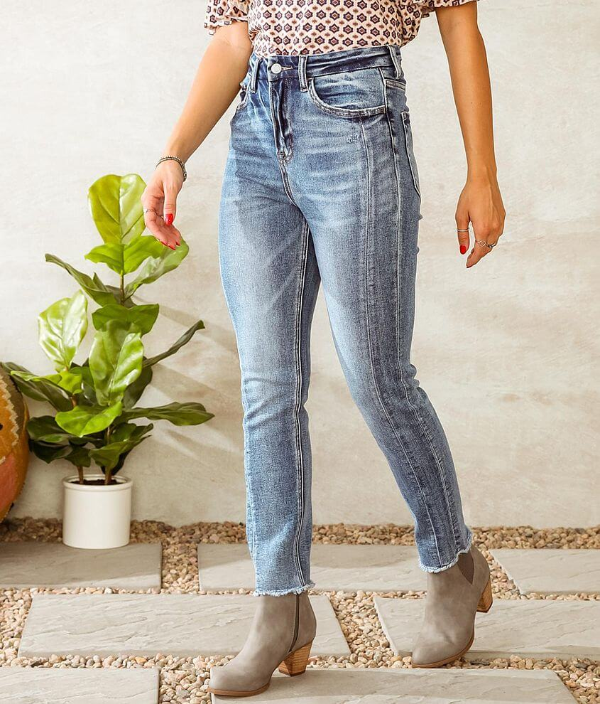 Bridge by GLY Taylor Ultra High Ankle Stretch Jean front view