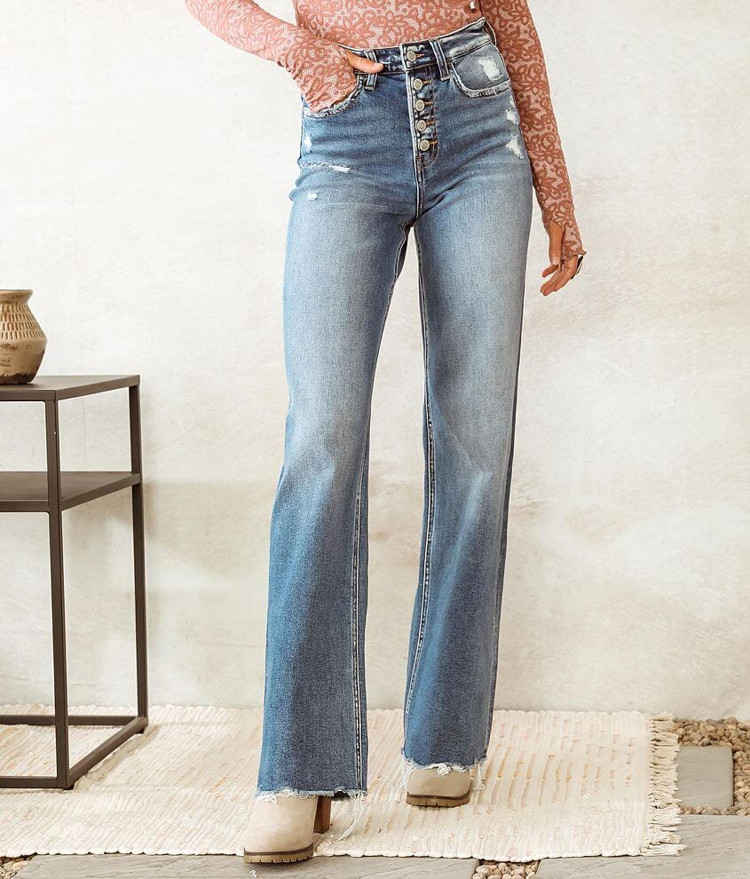 Bridge by GLY Taylor Ultra High Rise Wide Leg Jean front view