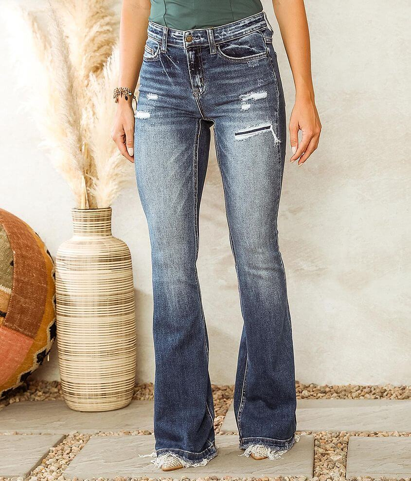 Bridge by GLY Hudson Mid-Rise Flare Stretch Jean front view