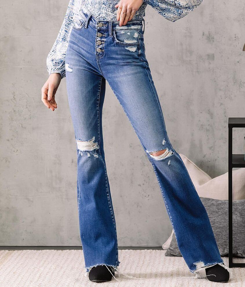 Flying Monkey High Rise Flare Stretch Jean front view