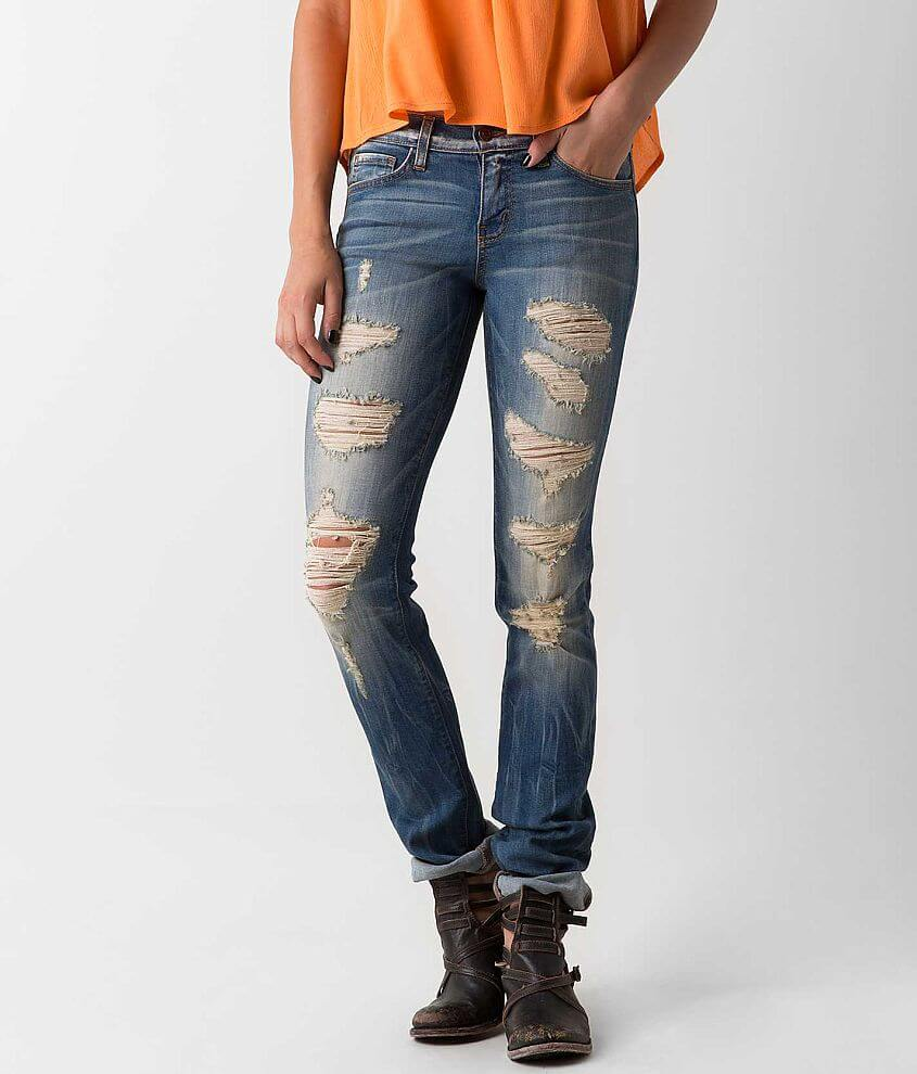Flying Monkey Low Rise Straight Stretch Jean front view