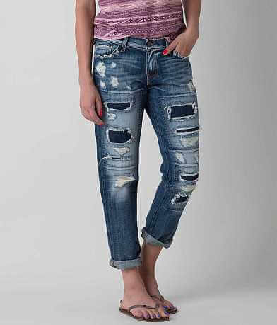Flying Monkey Mid-Rise Boyfriend Cropped Jean