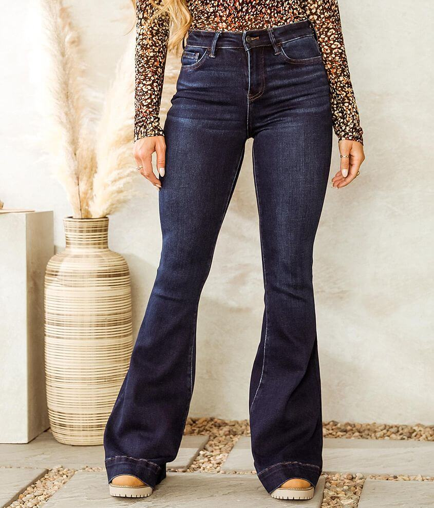 VERVET Bella High Rise Flare Stretch Jean front view