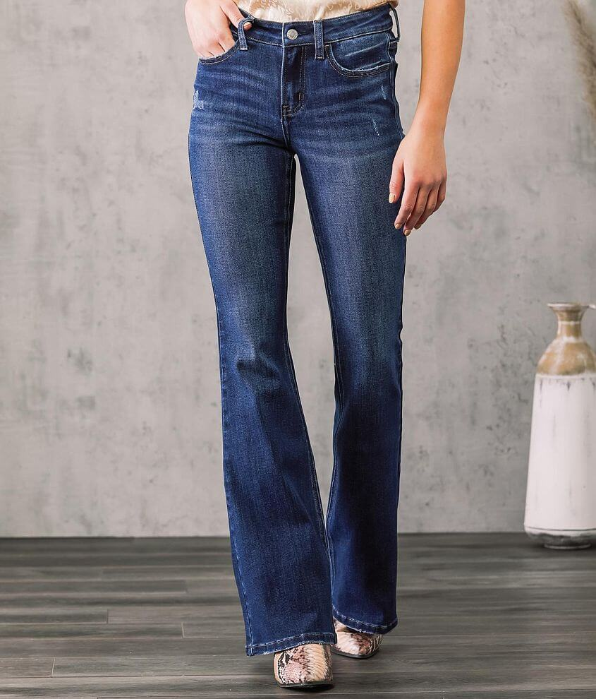 VERVET Alison Mid-Rise Flare Stretch Jean front view