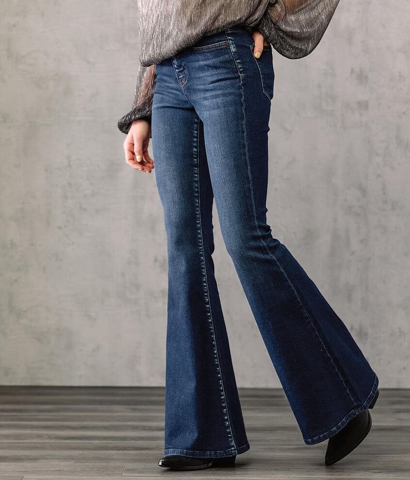 VERVET Bella High Rise Super Flare Stretch Jean front view