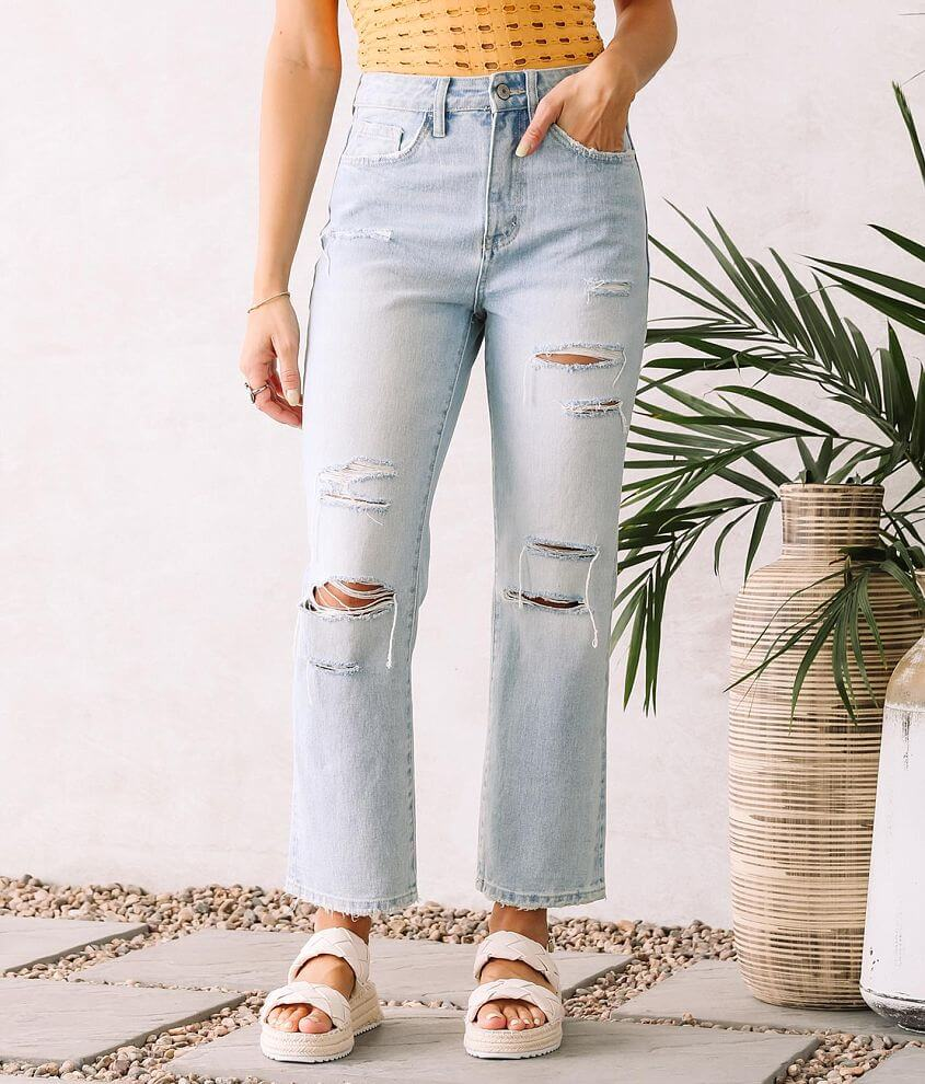 VERVET Beverley Super High Rise Straight Jean front view
