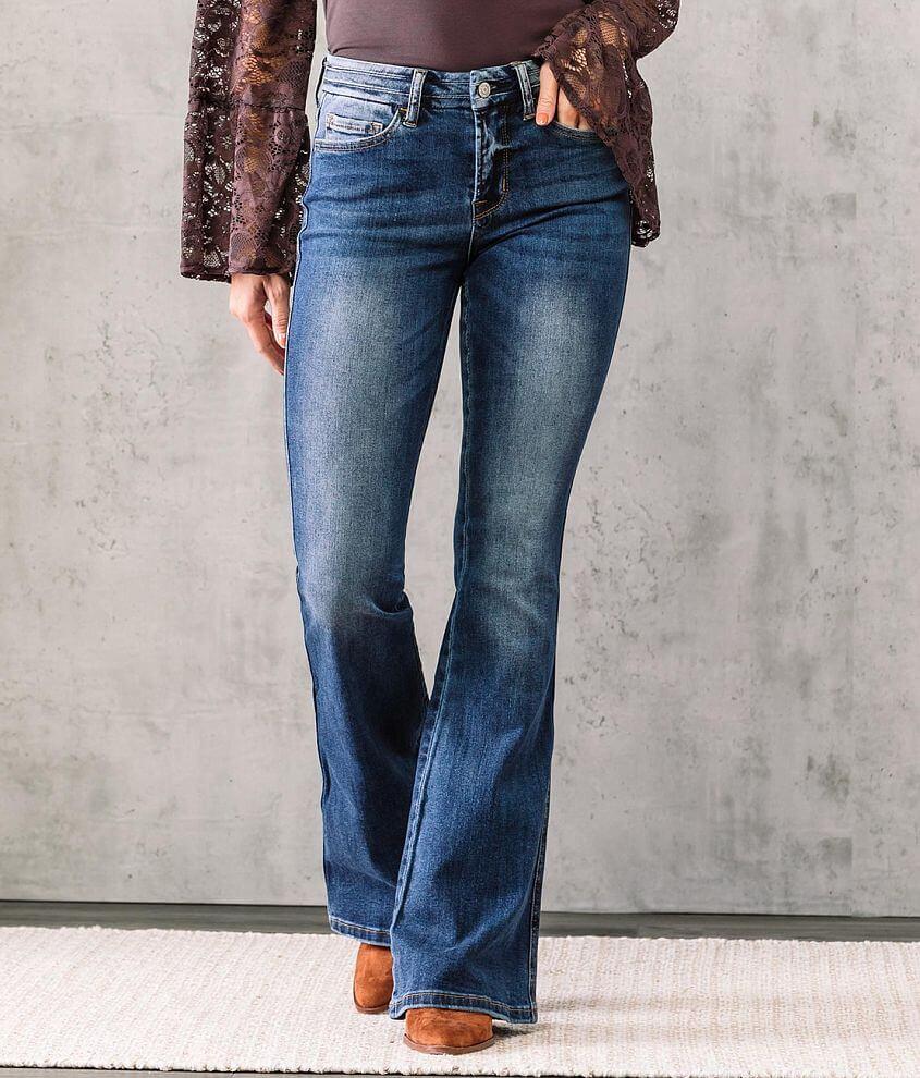 VERVET Allison Mid-Rise Flare Stretch Jean front view