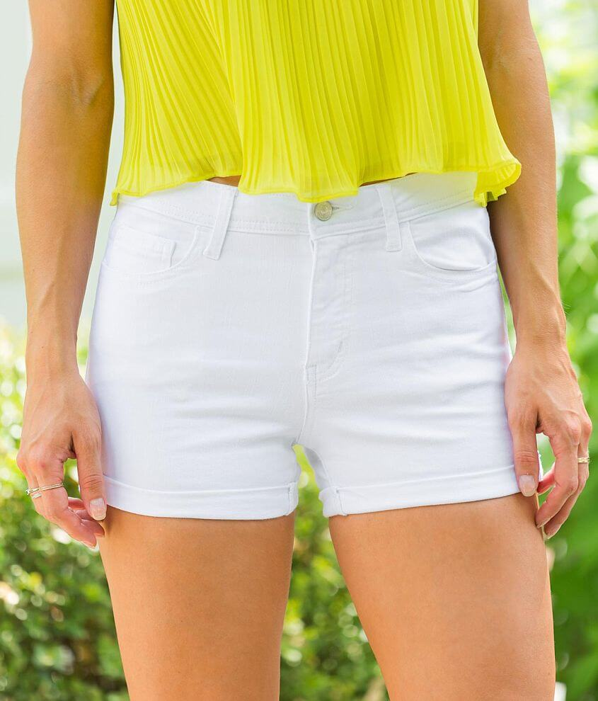 VERVET Holly Mid-Rise Stretch Cuffed Short front view
