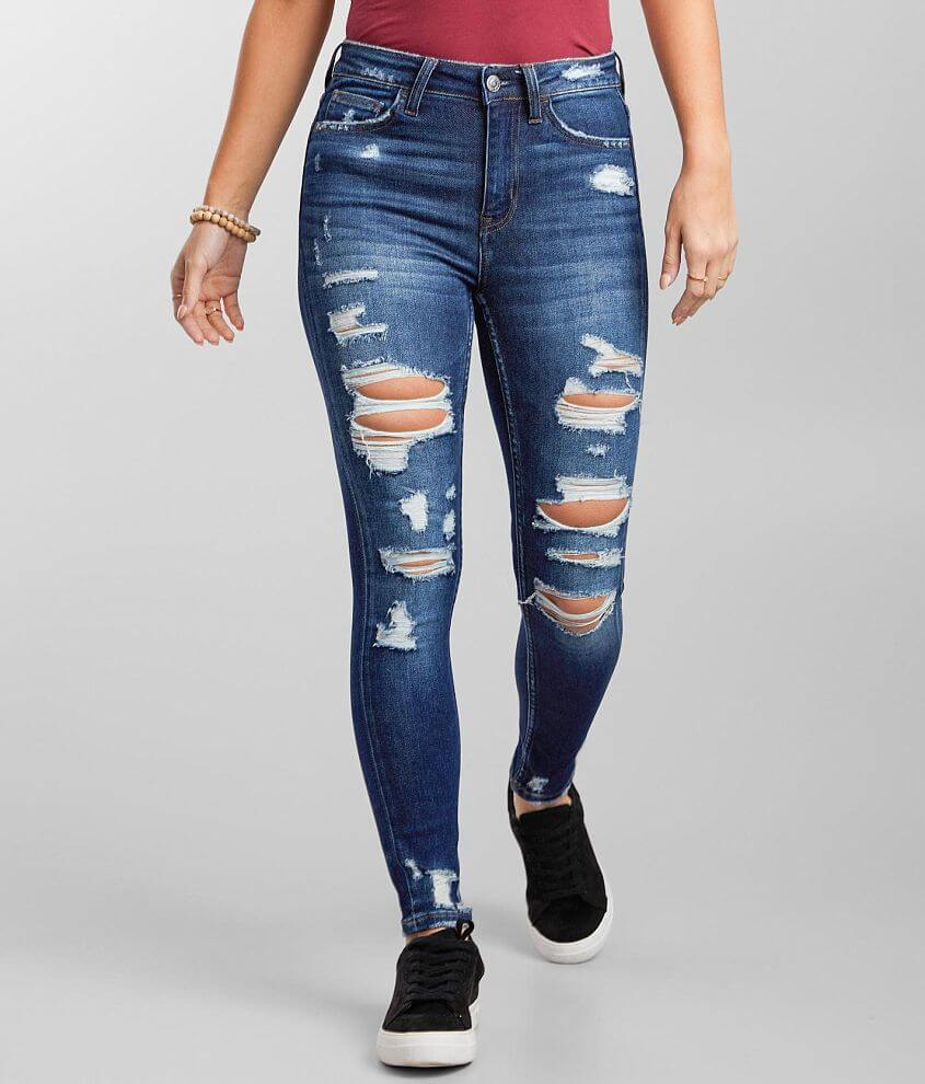 VERVET Haylie High Rise Ankle Skinny Stretch Jean front view