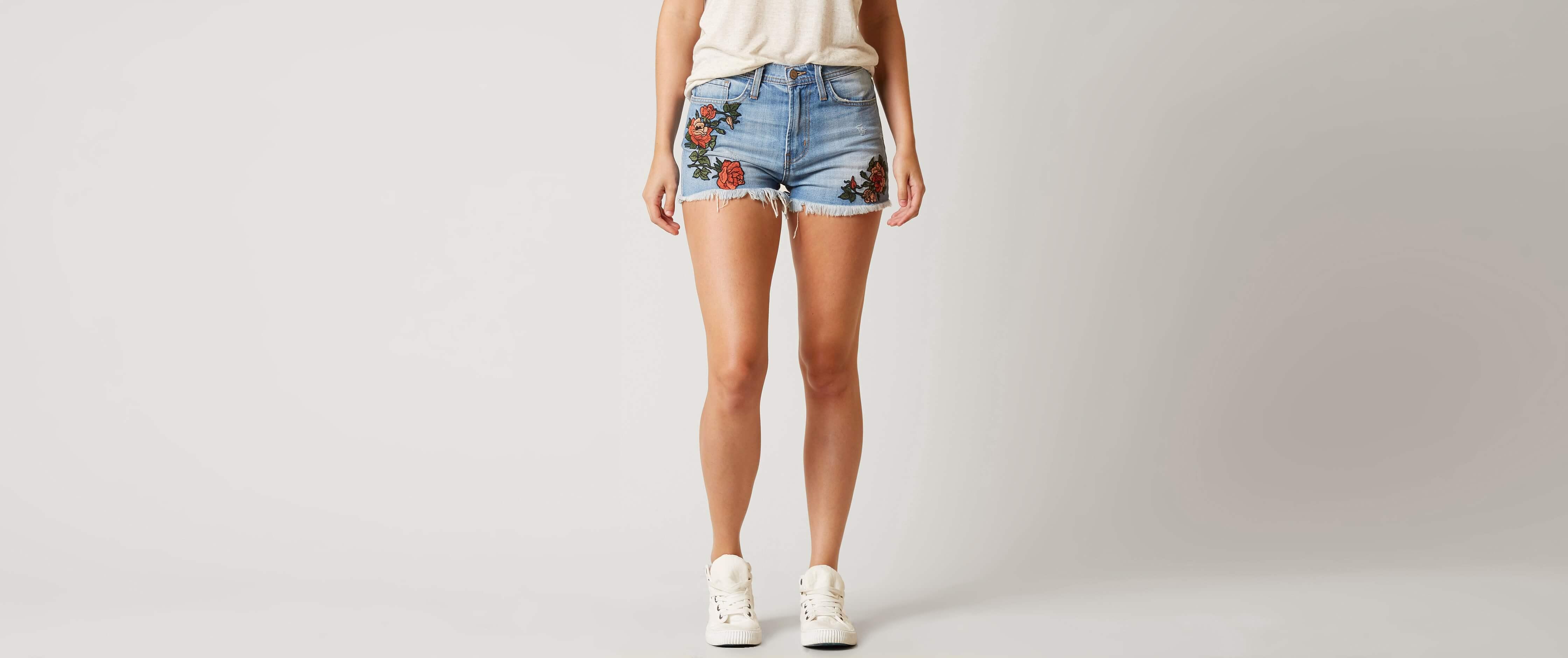 Womens high waisted jean shorts