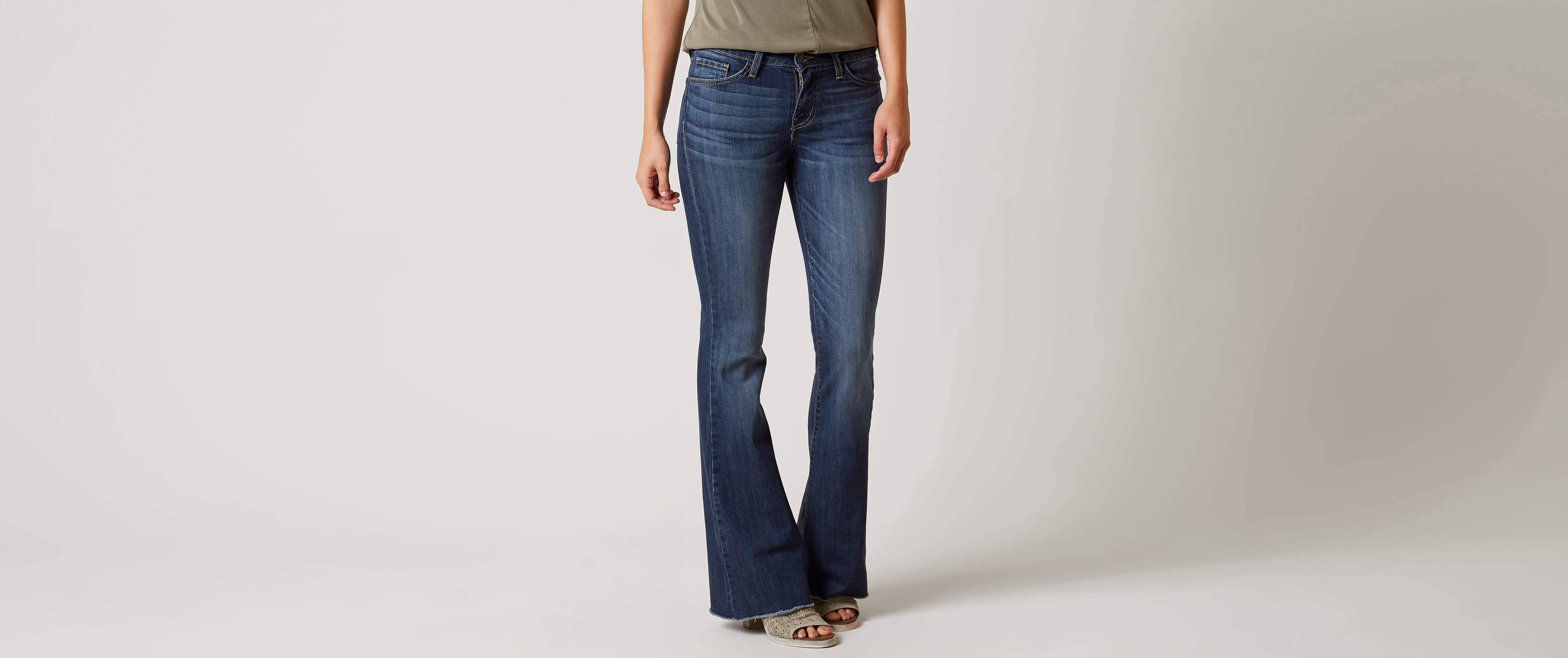 Flying Monkey Mid-Rise Flare Stretch Jean for cheap